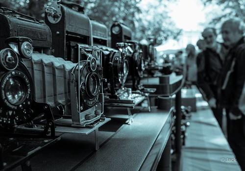 Collectors line up