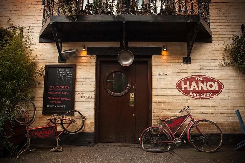 Outside the Hanoi Bike Shop