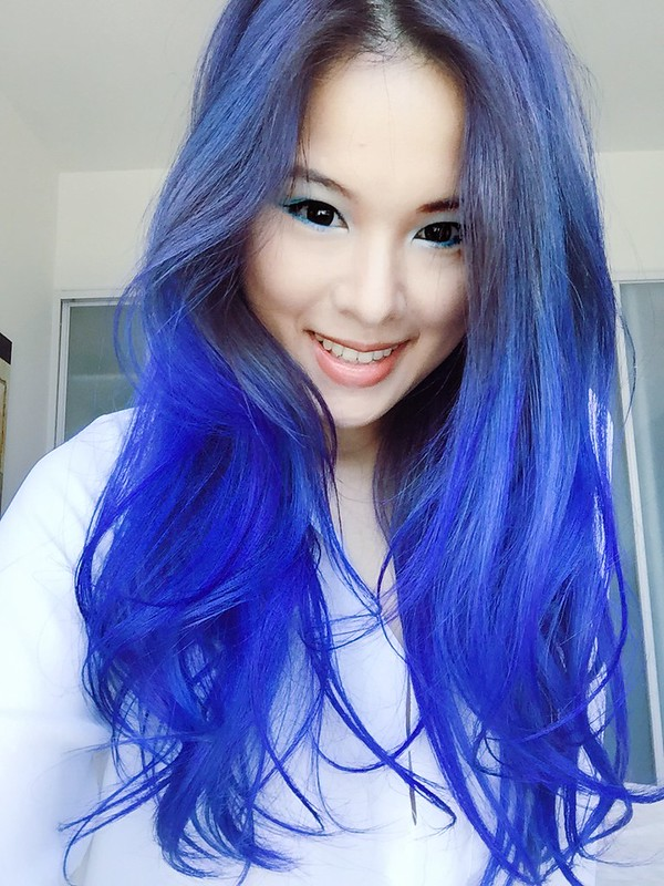 Blue hair @ HARETA HAIR STUDIO