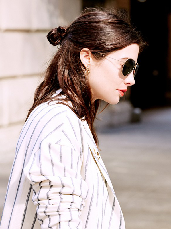 Half-Up Top Knot - Summer 2015 Hair Trend
