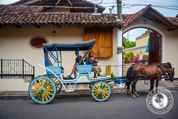 Horse carriage outside Hotel Xalteva Granada