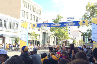 Golden State Warriors - Victory Parade wait