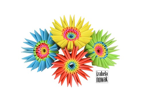 Origami Flower Brooches by Izabela Nowak Design