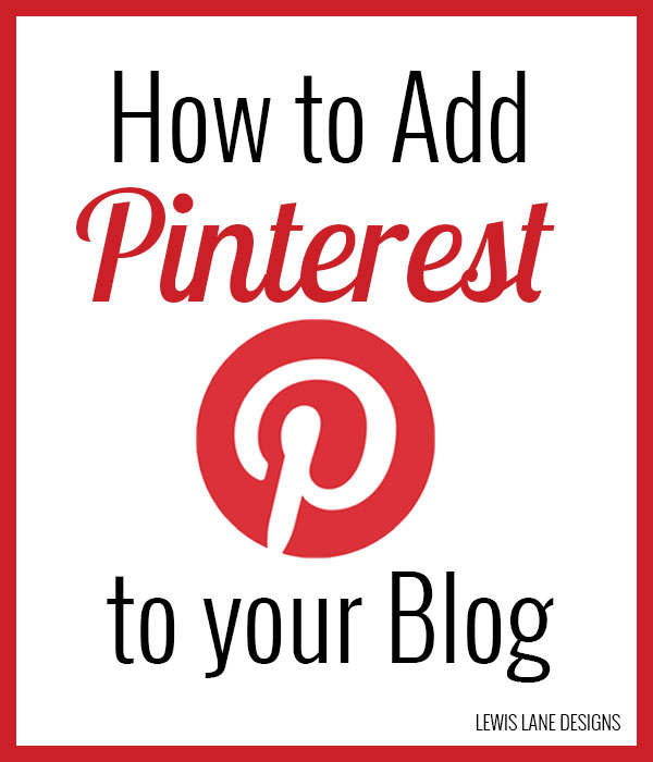 How to Add Pinterest to your blog by Lewis Lane