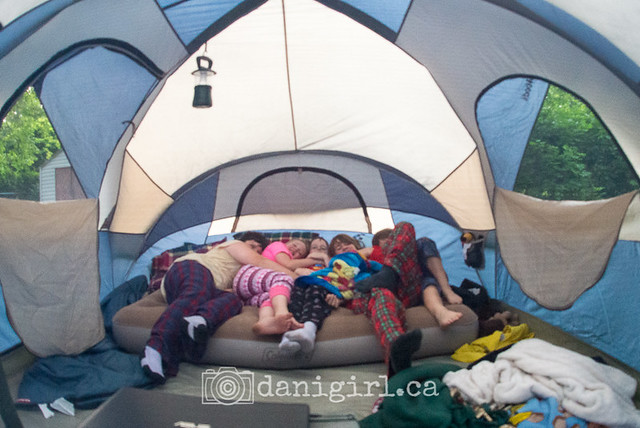 Cousins in the tent