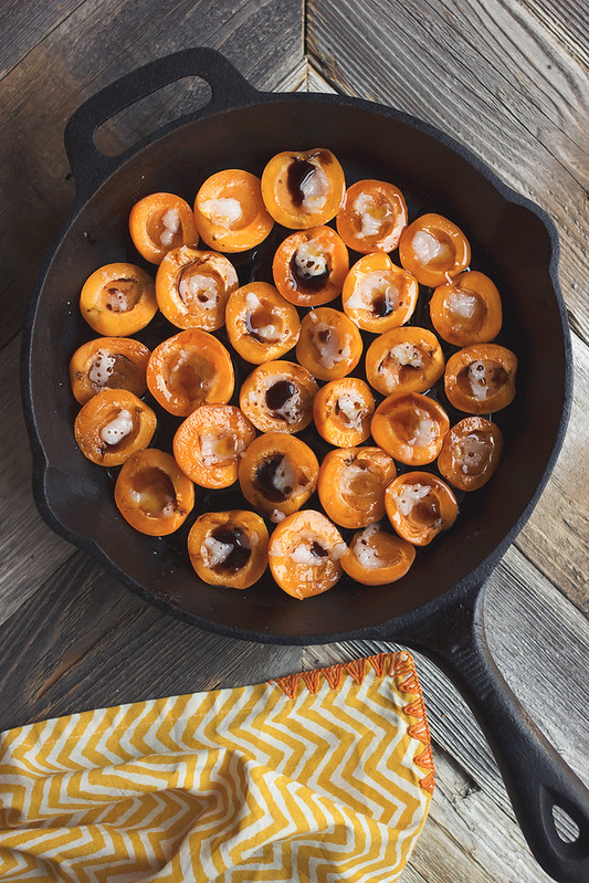 Honey Balsamic Roasted Apricots with Mint and Feta