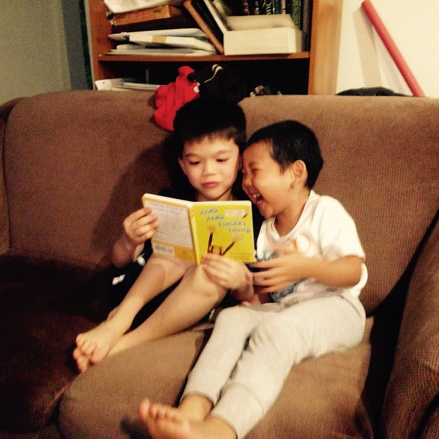 Cousins reading