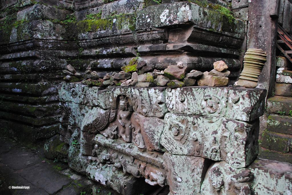 Temppelikaiverruksia, Angkorin temppelit, Siem Reap, Kambodza
