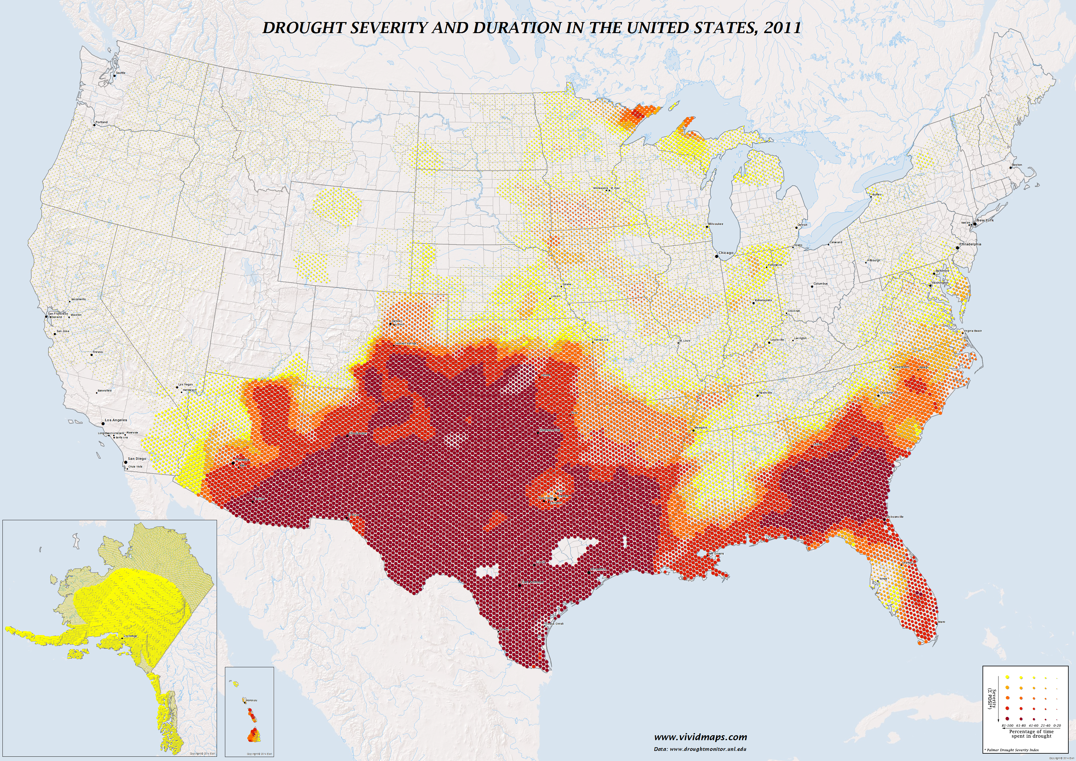 Drought severity and duration in the United States (2011)