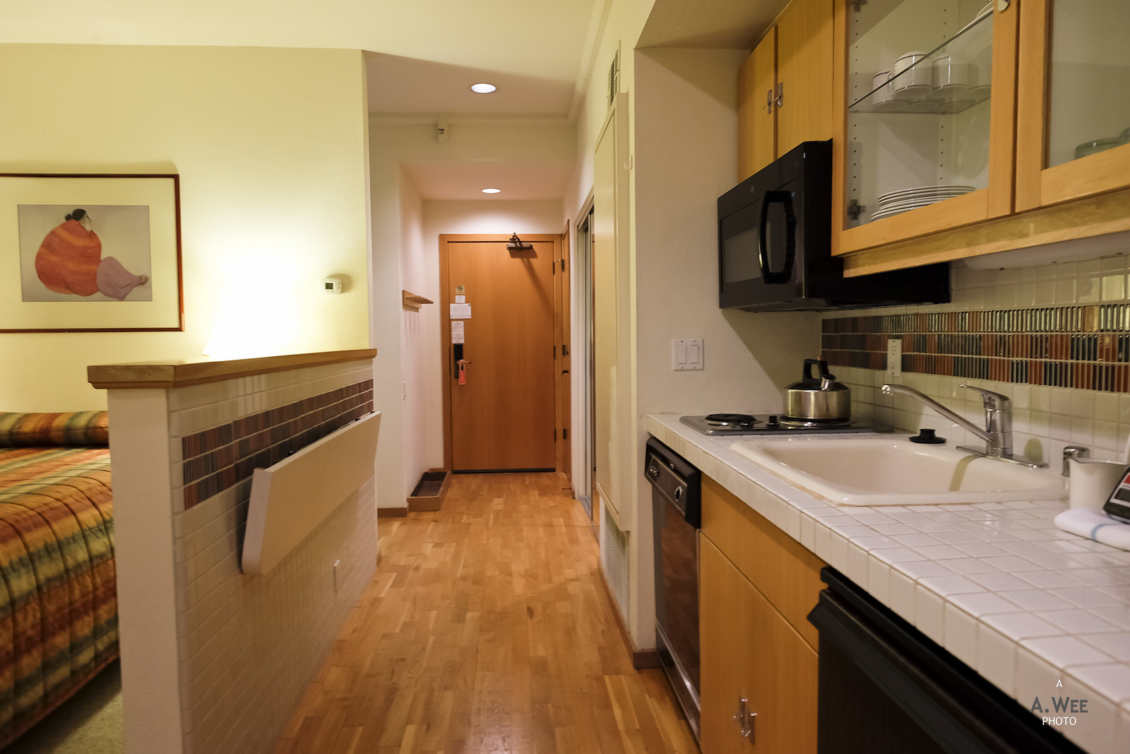 Kitchenette in the suite