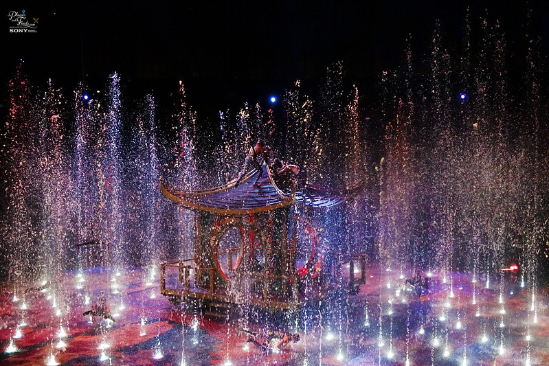 house of dancing water sinking pavilion