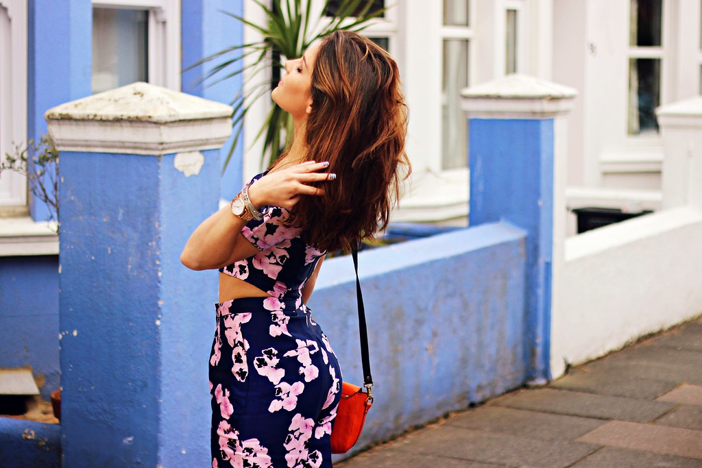 Missguided purple floral two piece the little magpie 5