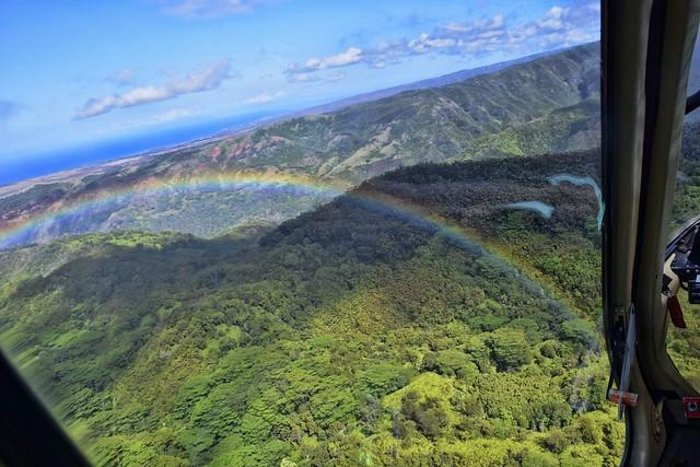 Kauai Helicopter Rainbow  Topaz