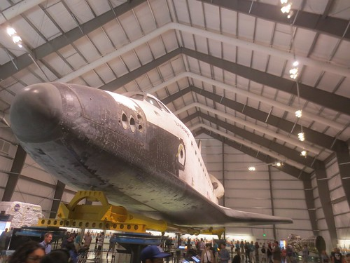 Visiting the Space Shuttle Endeavour at the California Science