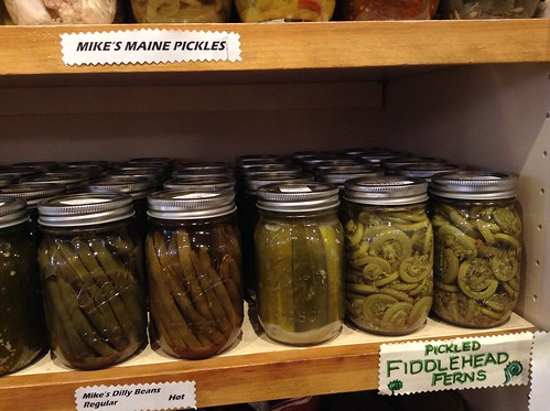 pickled fiddlehead ferns in Maine