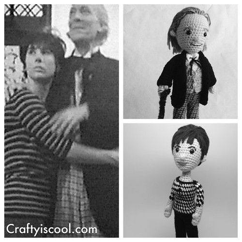 Doctor Who Crochet Amigurumi from CraftyIsCool - First Doctor and Susan Foreman