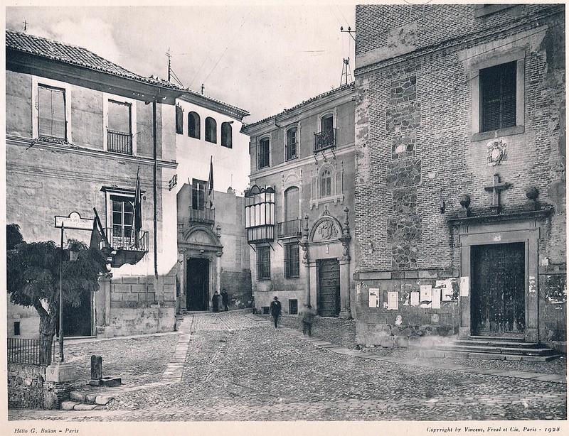 Plaza de San Vicente y Convento de las Gaitanas. Del libro Petits Édifices, publicado en Paris en 1928 por los editores Vincent, Fréal et Cie.