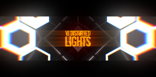 VJ Distorted Lights (4K Set 7)