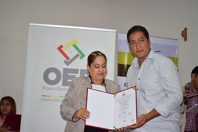 Entrega de credenciales a autoridades de Charagua Iyambae