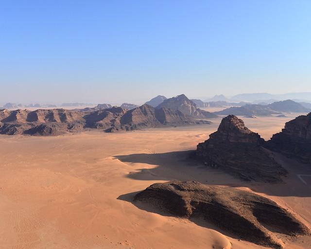 Paisajes marcianos de Wadi Rum donde se rodó la película de Marte