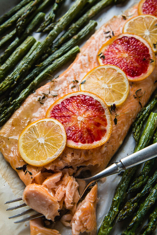 Citrus Baked Arctic Char with Asparagus (One Pan, 30 Minutes, Gluten-Free) | Will Cook For Friends