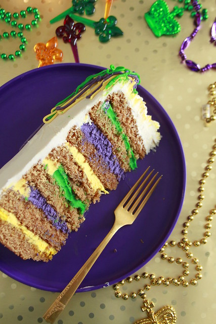 Mardi Gras Party Cake