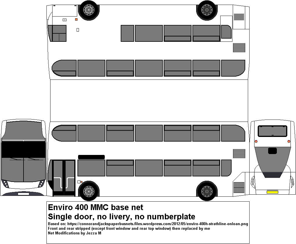 Blank Enviro 400 Mmc Net No Plate No Route Here Is A
