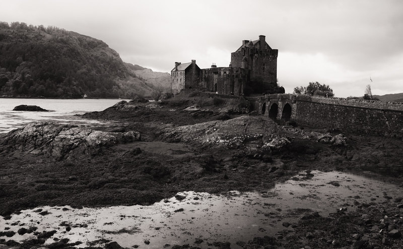 Castle at Low Tide, Scotland