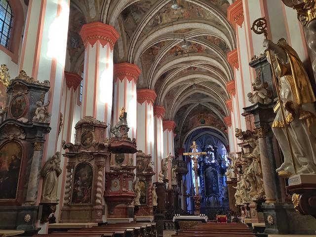 Iglesia barroca de la Anunciación en el monasterio premostratense de Teplá (República Checa)