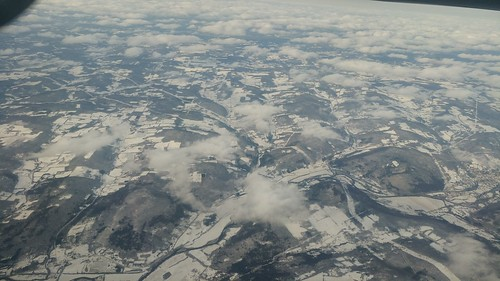 Snow from the plane
