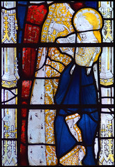 Blessed Virgin as a child (Clayton & Bell, 1973, copy of 15th Century glass at All Souls College, Oxford)