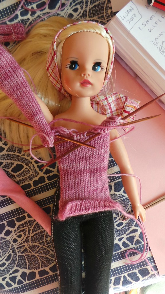 Sindy Knitting Wip Using A Daniel Bingham Pattern And Ma Flickr