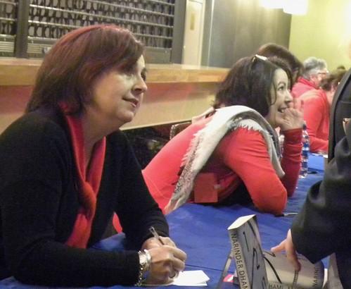 Narinder Dhami and Sarah Moore Fitzgerald