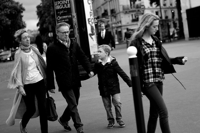 French Family at the Place de l'Ecole Militaire