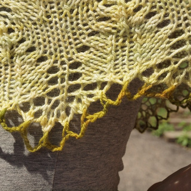 I can't believe how perfectly the contrast yarn ended up working out!