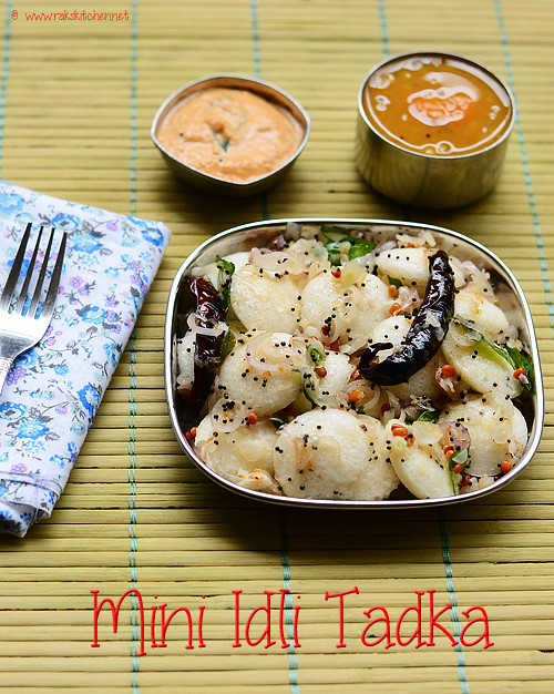 Mini idli tadka | Thalippu idli recipe