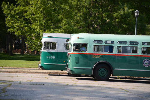 Rochester Ny Restored Old Look Bus: The New York Transit Museum Held A