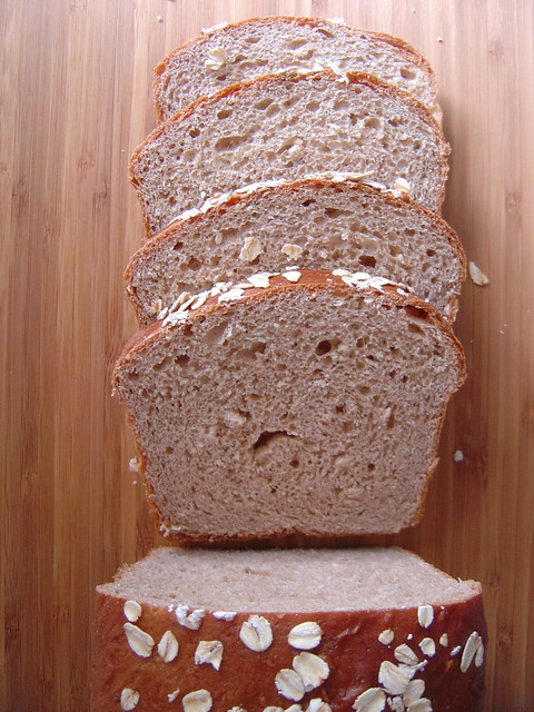 oatmeal honey wheat bread