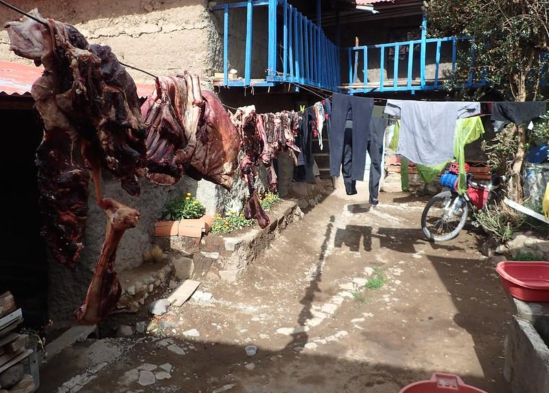 Carne de carnero y ropa de ciclista.
