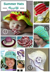 Summer Hats Crochet Pattern Round Up from Jessie At Home