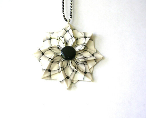 Black and White Origami Pendant from Paper Imaginations