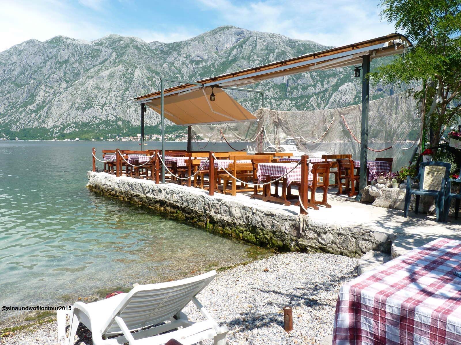 Restaurant, Bucht von Kotor, Montenegro