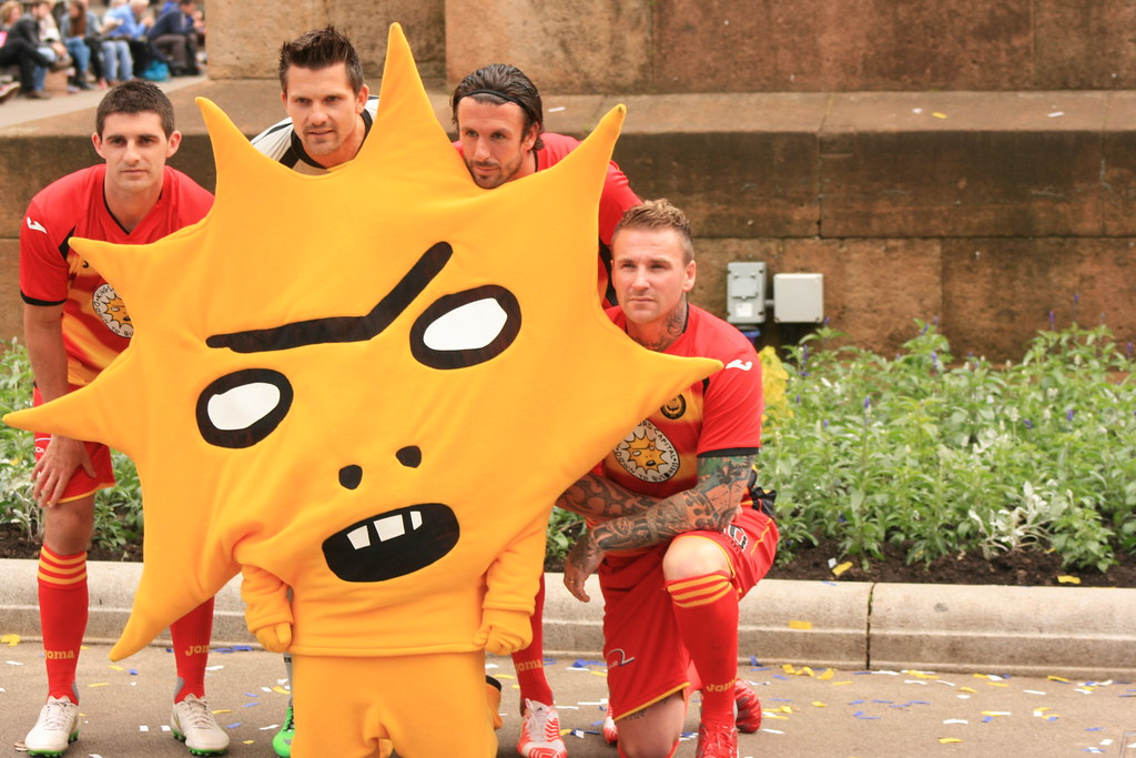 Partick Thistle's Mascot in George Square (58)