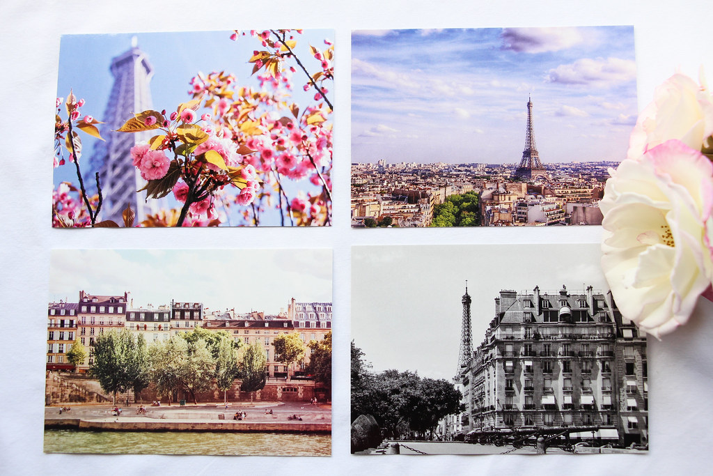 Etsy Summer Sale Photo Prints Paris, Set of Four Scenes of Paris Photo Postcards