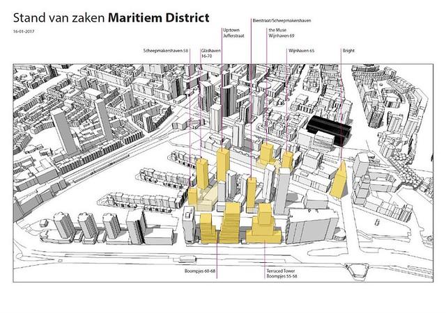 Maritiem Distrit Rotterdam woontorens