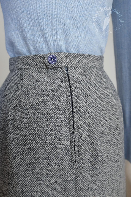 marchewkowa, blog, Szycie 1/2017, sewing, retro, vintage, 1960s, skirt, wool, tweed, wełna, Patrones, BPV Polska, Wrocław, przeróbki, upcycling