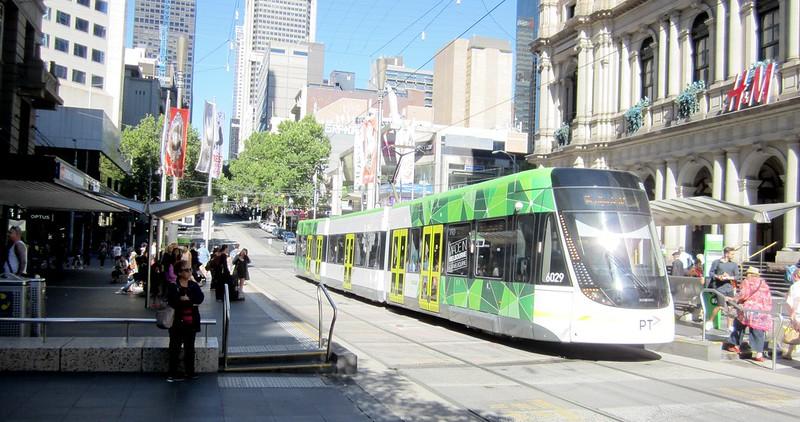 Bourke Street Mall tram stops