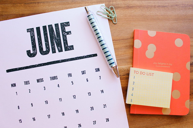 june goals on the blog!