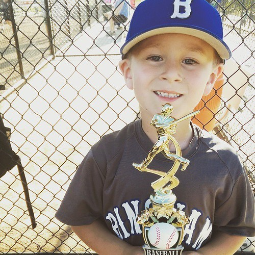 Baseball.  Is.  OVER!  Lost by 4 runs.  Took second place in the consolation bracket.  Got a trophy.  Looks cute in a uniform.  The end! #howdenboysbaseball