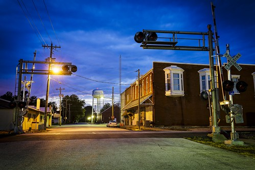 downtown, Missouri, Notley, Notley Hawkins, 10thavenue, http://www.notleyhawkins.com/, Missouri Photography, Notley Hawkins Photography, 2015, blue hour, The Blue Hour, architecture, night, nocturne, evening, sunset, streets, stormy, Stormy Evening, clouds, sky, June, Monroe City Missouri, Monroe County Missouri, small town, N Vine St